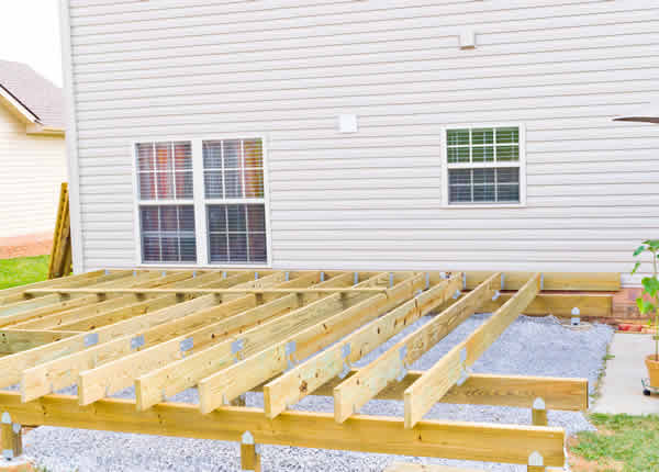Have T&S Custom Homes of Fargo, North Dakota build a deck or garage for your home.